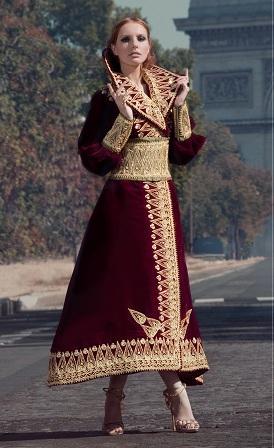 بالصور ملابس جزائرية عصرية , جلباب وفطان وفستان من الجزائر 890 1