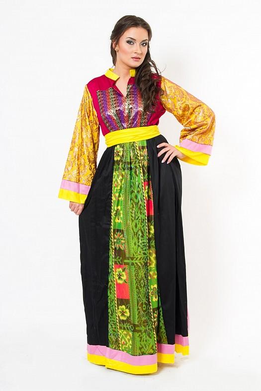 بالصور ملابس جزائرية عصرية , جلباب وفطان وفستان من الجزائر 890 2