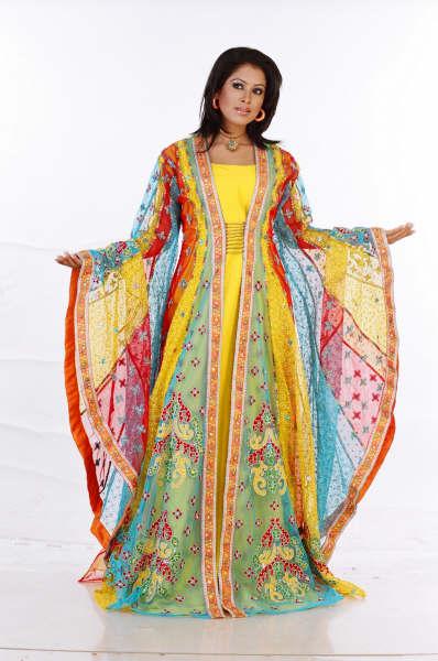 بالصور ملابس جزائرية عصرية , جلباب وفطان وفستان من الجزائر 890 4