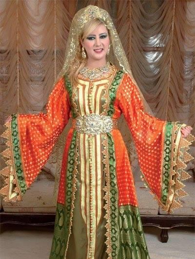 بالصور ملابس جزائرية عصرية , جلباب وفطان وفستان من الجزائر 890 7