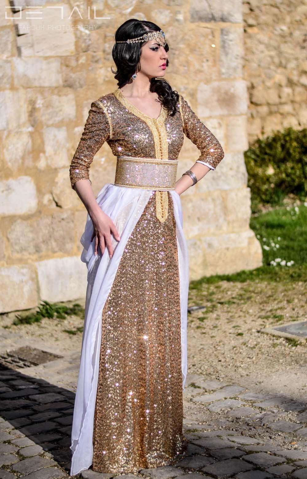 بالصور ملابس جزائرية عصرية , جلباب وفطان وفستان من الجزائر 890 9