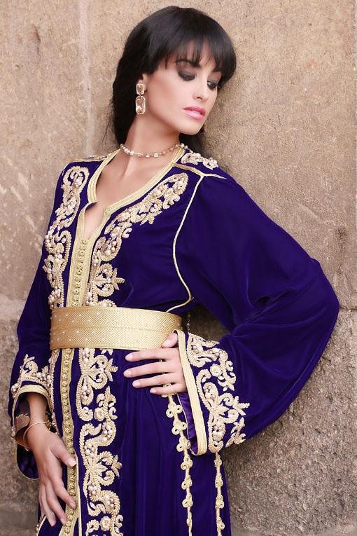 صوره ملابس جزائرية عصرية , جلباب وفطان وفستان من الجزائر
