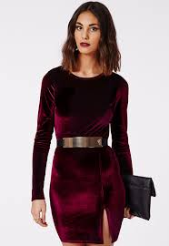 صور فساتين مخمل قصيرة , اروع فستان قصير