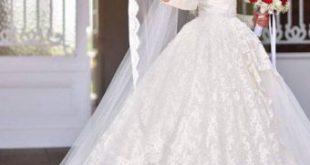 صوره احدث فساتين الزفاف للمحجبات , فساتين مناسبات للمحجبات