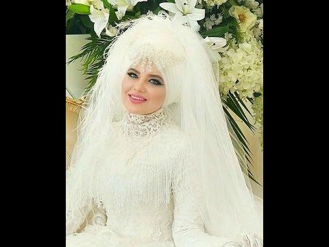 صورة احدث فساتين الزفاف للمحجبات , فساتين مناسبات للمحجبات 914 6