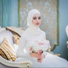 بالصور احدث فساتين الزفاف للمحجبات , فساتين مناسبات للمحجبات 914 8
