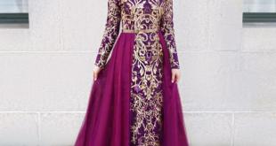 فساتين سهرة للمحجبات , اجمل فستان للبنات المحجبة