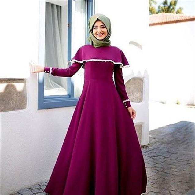 بالصور فساتين سهرة للمحجبات , اجمل فستان للبنات المحجبة 933 1