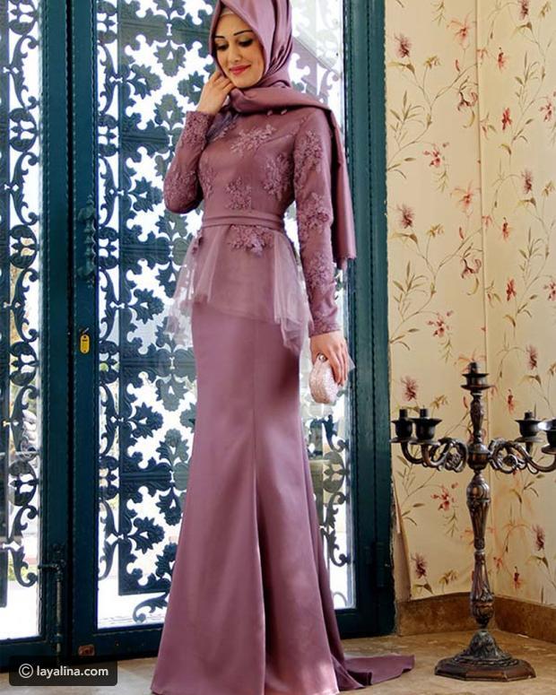بالصور فساتين سهرة للمحجبات , اجمل فستان للبنات المحجبة 933 2
