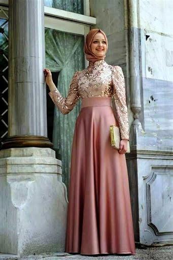 بالصور فساتين سهرة للمحجبات , اجمل فستان للبنات المحجبة 933 4