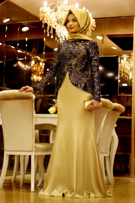 بالصور فساتين انستقرام , فستان سهرة للمحجبه 934 2