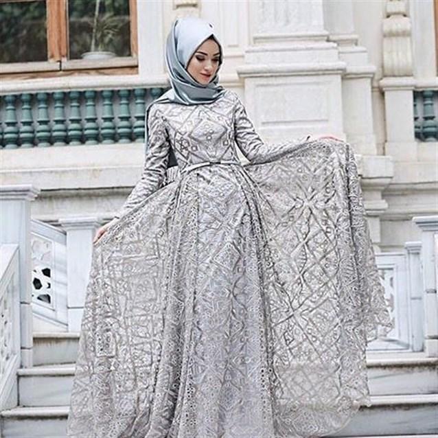 بالصور فساتين انستقرام , فستان سهرة للمحجبه 934 7
