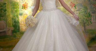صوره فساتين زفاف منفوشة , فستان جميل و منفوش