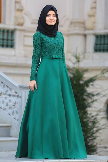 بالصور فساتين طويلة للمحجبات , فستان طويل لكل بنت محجبة 966 1