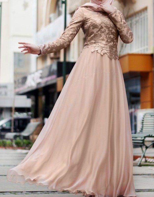 بالصور فساتين تركية للمحجبات , اجمل موديلات لفستان تركي روعة 969 10