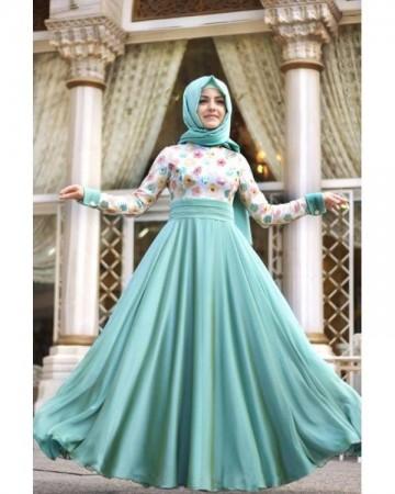 بالصور فساتين تركية للمحجبات , اجمل موديلات لفستان تركي روعة 969 11
