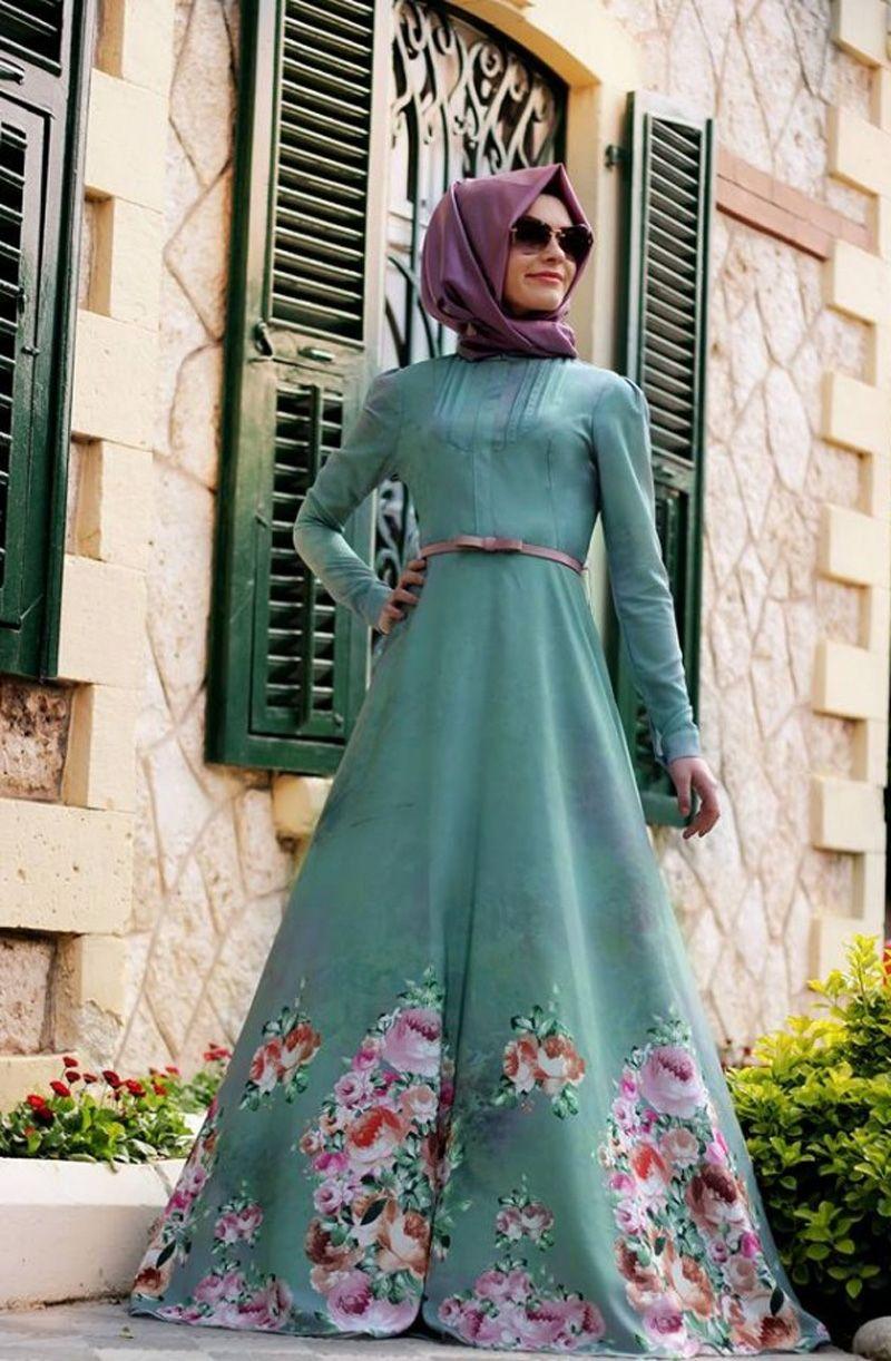 صورة فساتين تركية للمحجبات , اجمل موديلات لفستان تركي روعة 969 2