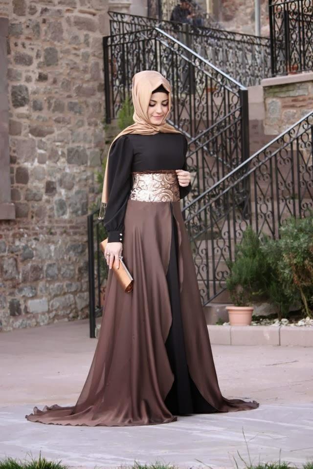صورة فساتين تركية للمحجبات , اجمل موديلات لفستان تركي روعة 969 3