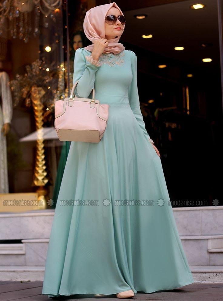 صورة فساتين تركية للمحجبات , اجمل موديلات لفستان تركي روعة 969 4