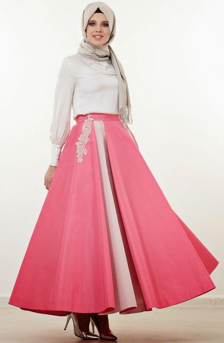صورة فساتين تركية للمحجبات , اجمل موديلات لفستان تركي روعة 969 5