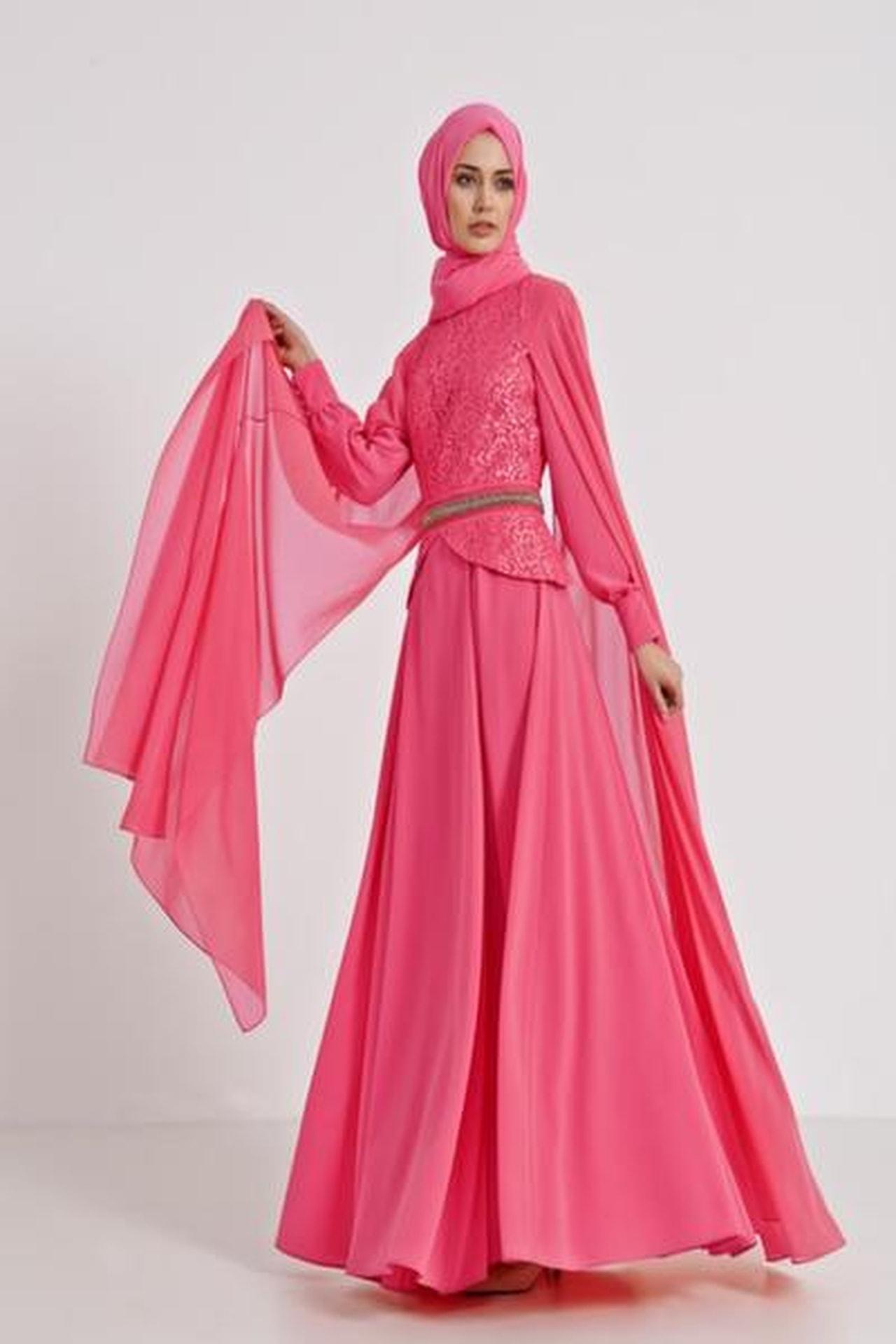 صورة فساتين تركية للمحجبات , اجمل موديلات لفستان تركي روعة 969 6