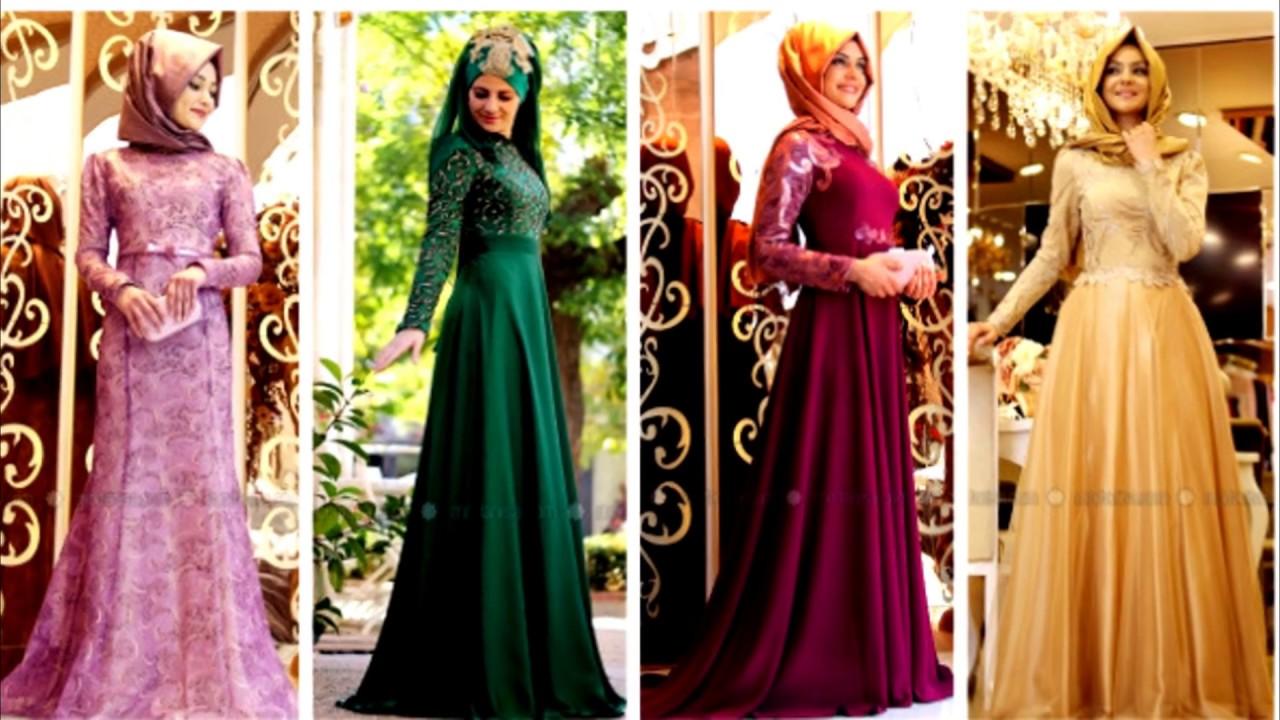 صورة فساتين تركية للمحجبات , اجمل موديلات لفستان تركي روعة 969 7