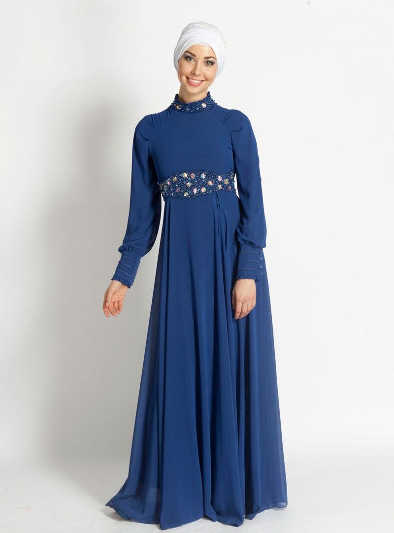 صورة فساتين تركية للمحجبات , اجمل موديلات لفستان تركي روعة 969 8