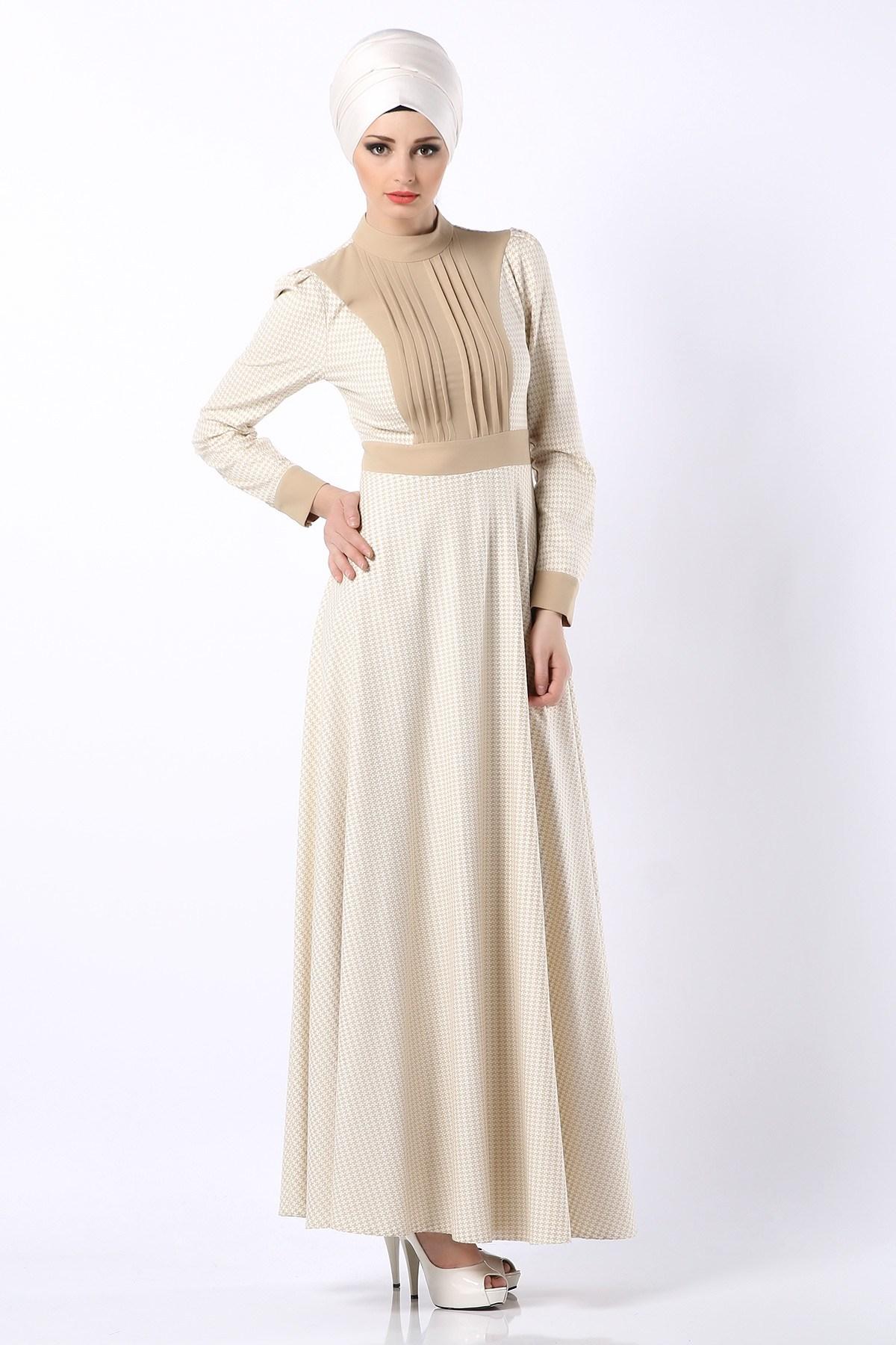 صورة فساتين تركية للمحجبات , اجمل موديلات لفستان تركي روعة 969 9