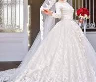 صوره فساتين زفاف للمحجبات , احلي تفاصيل الفساتين