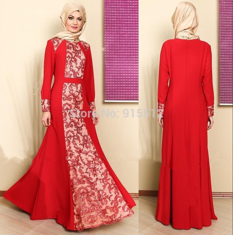 بالصور صور فساتين محجبات سواريه , اجمل الفساتين الناعمه 1032 1