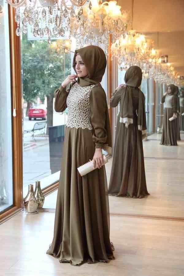 بالصور صور فساتين محجبات سواريه , اجمل الفساتين الناعمه 1032 3