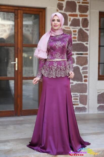 بالصور صور فساتين محجبات سواريه , اجمل الفساتين الناعمه 1032