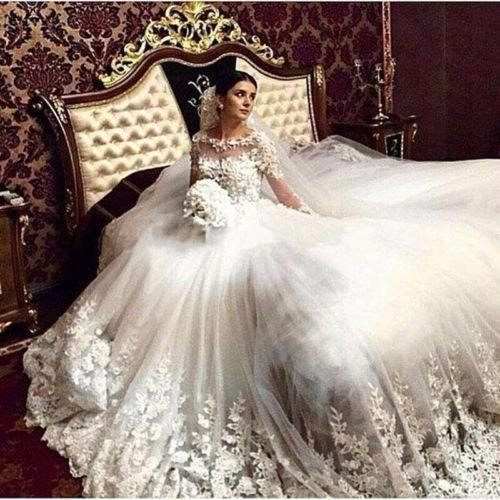 صورة فساتين زفاف فيس بوك , اروع فستان فرح للعروسة