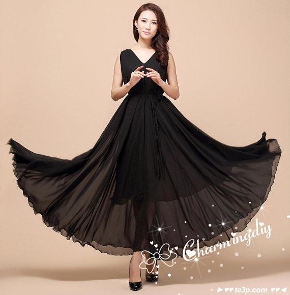 بالصور صور فساتين شيفون , اروع فستان مصنوع من الشيفون 1208 5