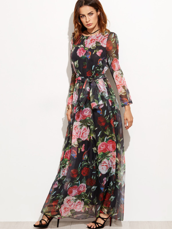 بالصور صور فساتين شيفون , اروع فستان مصنوع من الشيفون 1208 6