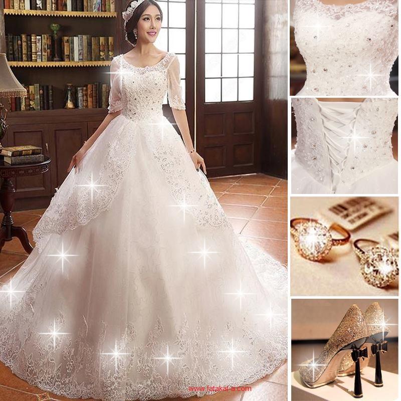 بالصور فساتين اعراس جديدة , فستان فرح لاجمل عروسة 909 3