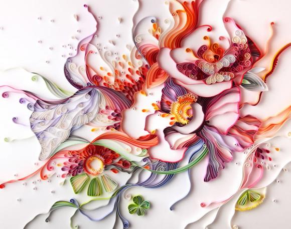 بالصور اعمال يدوية بالورق الملون , اجمل الاعمال الفنيه بالورق الملون 12256