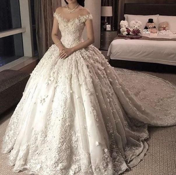 صور فساتين زفاف فخمه , احداث فساتين زفاف