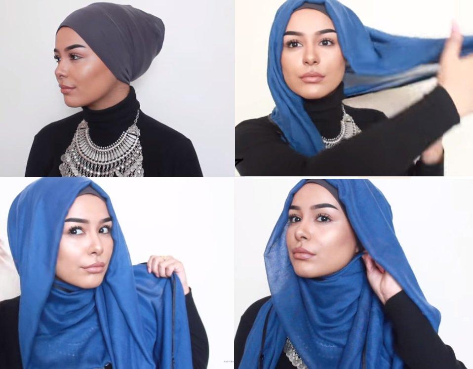 صورة لفات حجاب بسيطة للمدرسة , احلي لفات حجاب بسيطة للمدرسة