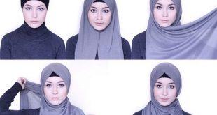 صور لفات حجاب بسيطة للمدرسة , احلي لفات حجاب بسيطة للمدرسة