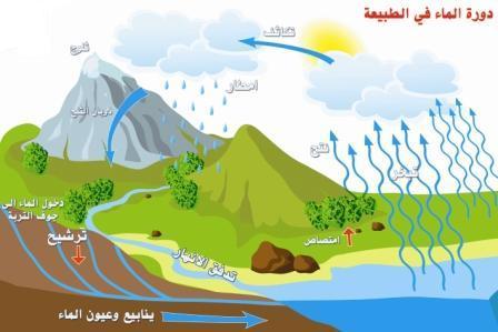 صور رسم دورة المياه في الطبيعة , اجمل رسم دورة المياه في الطبيعة