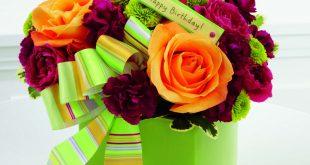 صورة اجمل بوكيه ورد لعيد ميلاد , احلي واشيك باقات الورد