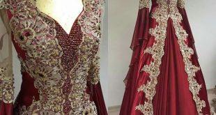 صورة موديلات خياطة فساتين منزلية جزائرية,ازاى نعمل فستان جزائري